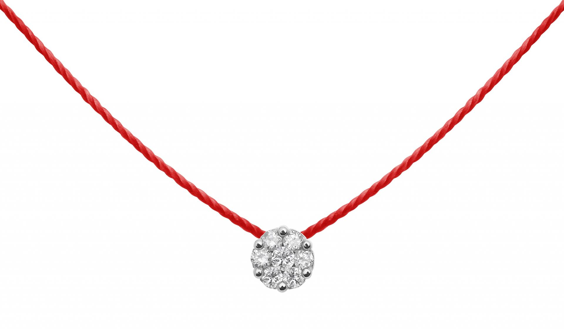 collier diamant fil invisible
