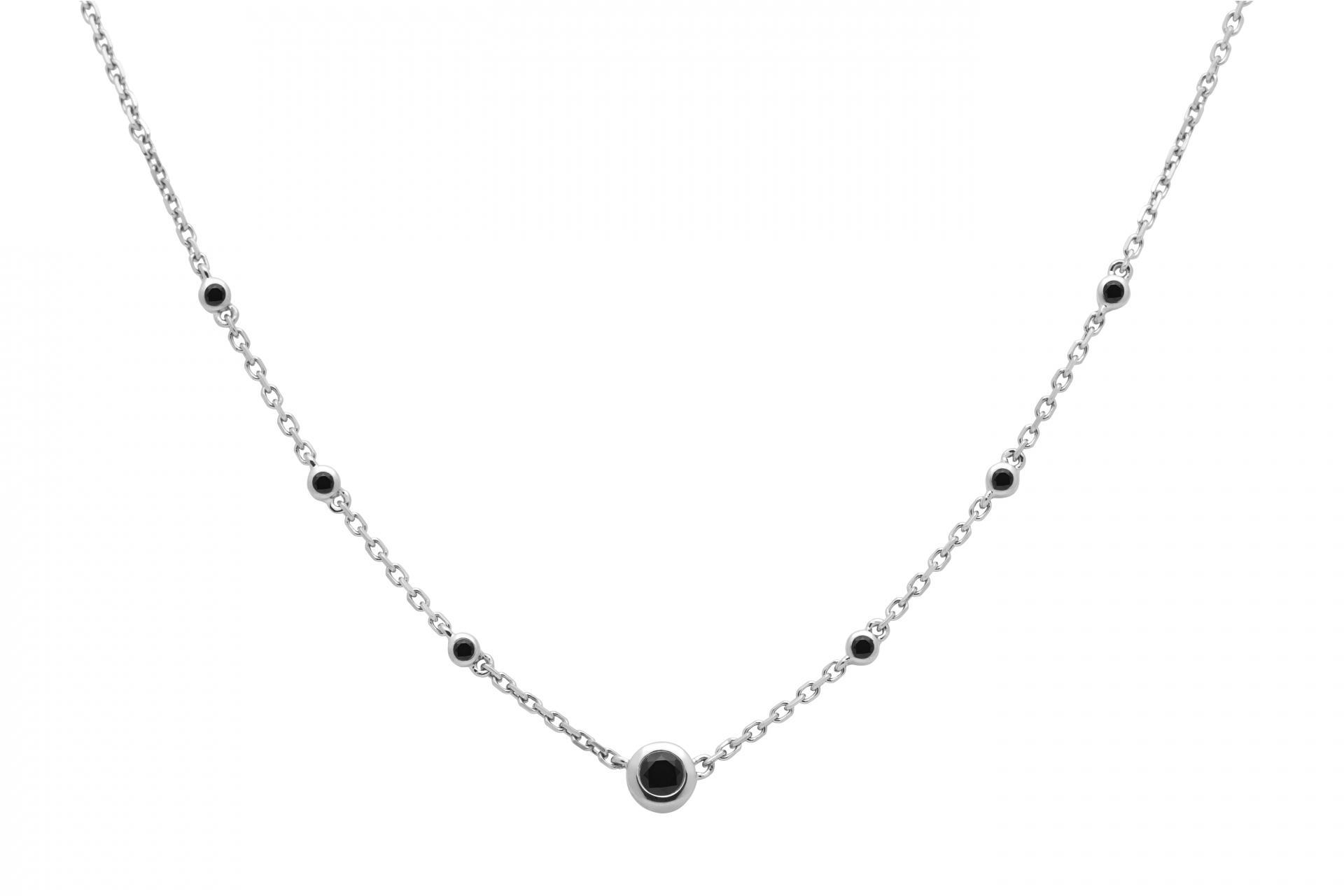 collier chaine noir femme