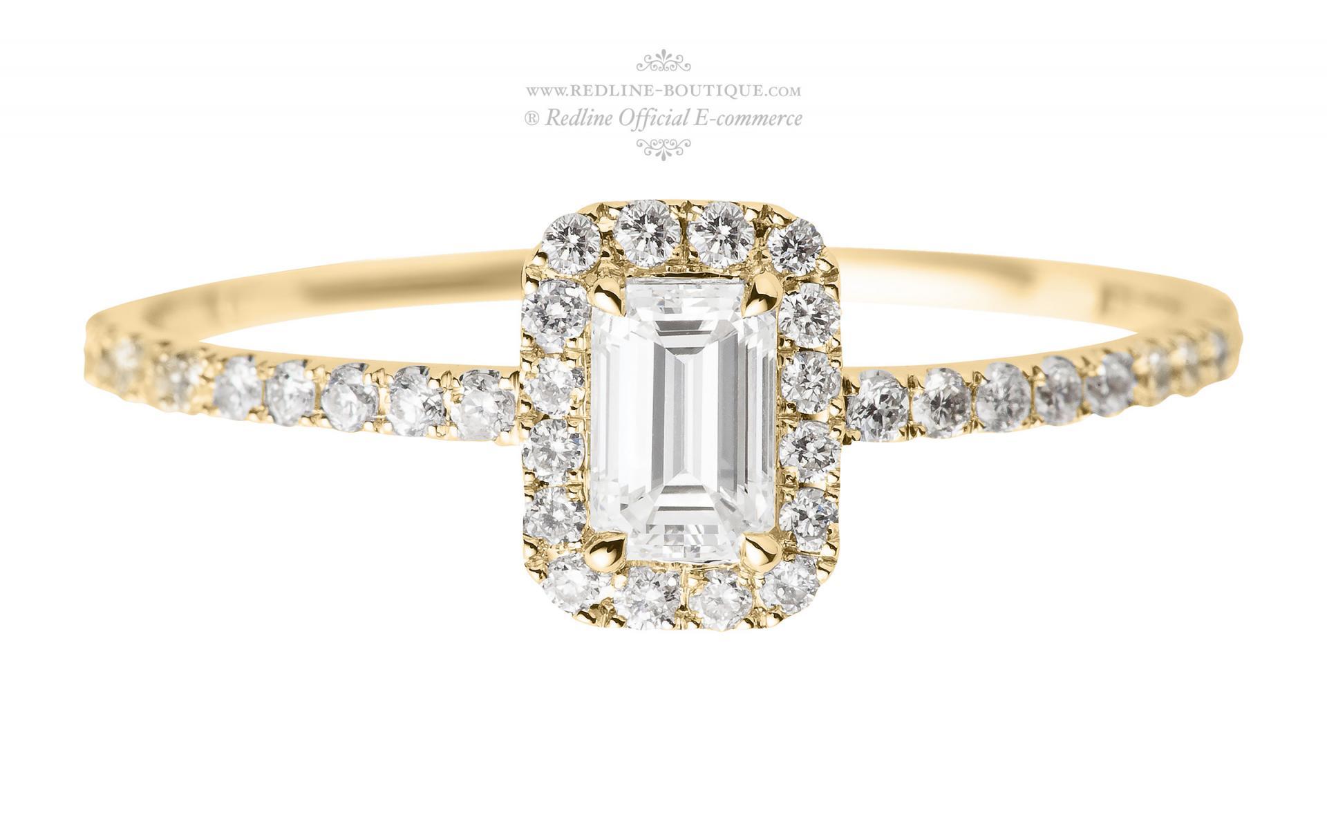 bague or jaune diamant taille 48 ou 46