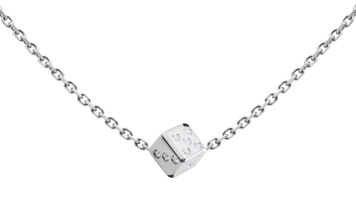 collier or blanc pour homme