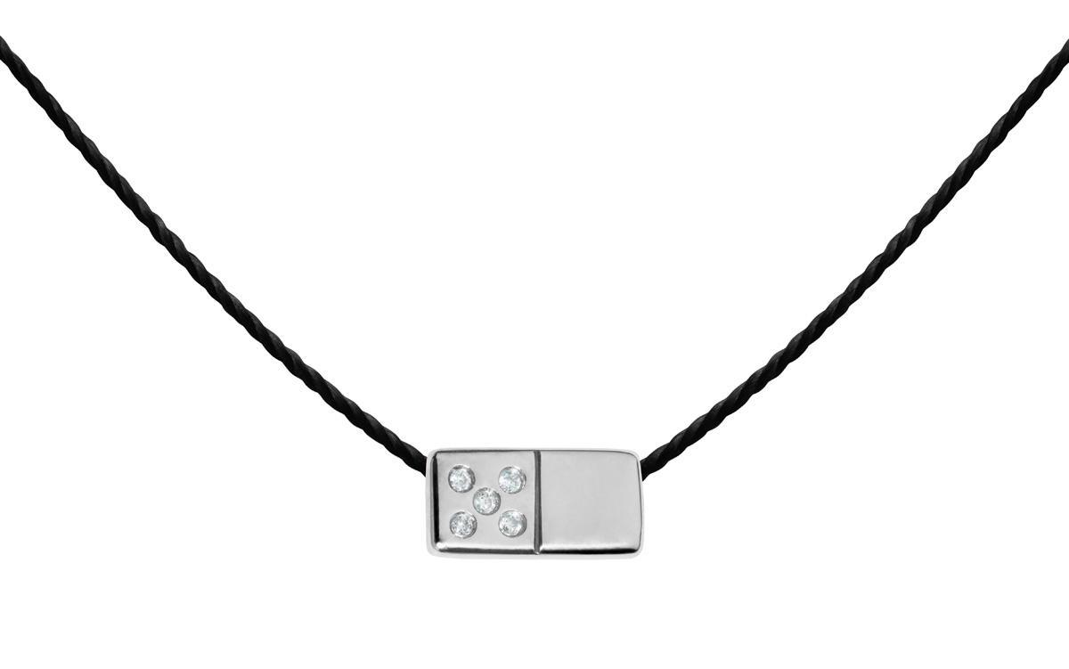 collier diamant noir homme