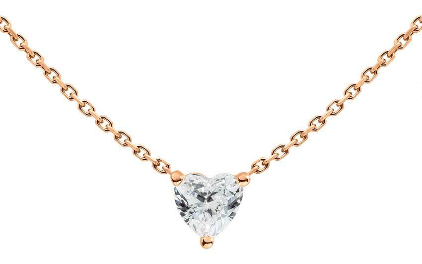 collier or et diamant femme