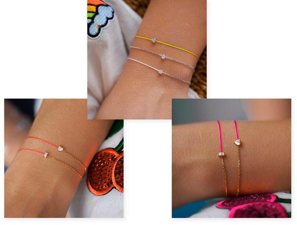 bracelet-fil-rouge-jaune-rose-fluo-redline