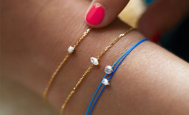bracelet corde diamant