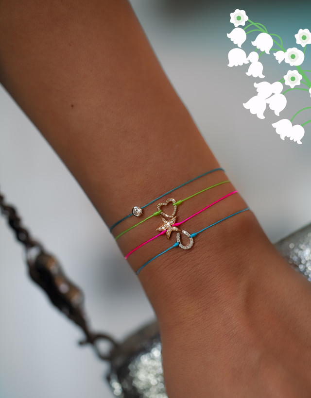bracelet cordon diamant bracelet fil rose diamant bracelet diamant noire fil bleu