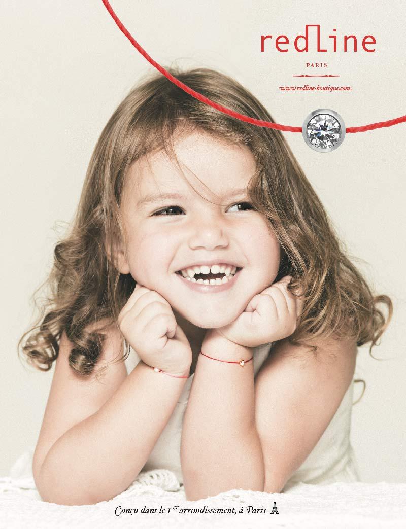 bracelet cordon rouge enfant